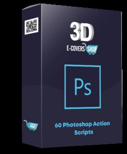 """60 Photoshop """"3D E-Covers"""" Action Scripts PLR Bundle"""