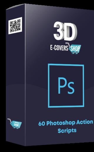 """60 Photoshop """"3D E-Covers"""" Action Scripts"""