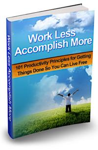 Work Less Accomplish More PLR Bundle