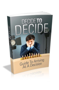 Decide To Decide PLR Bundle