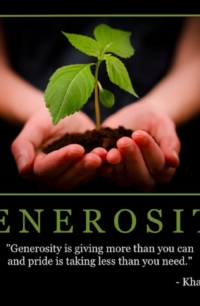 "Free ""Generosity"" Wallpaper"