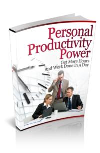 Personal Productivity Power PLR Bundle