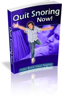 Quit Snoring Now PLR Bundle