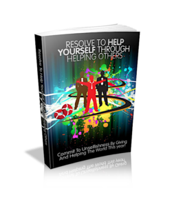 Resolve To Help Yourself Through Helping Others PLR Bundle